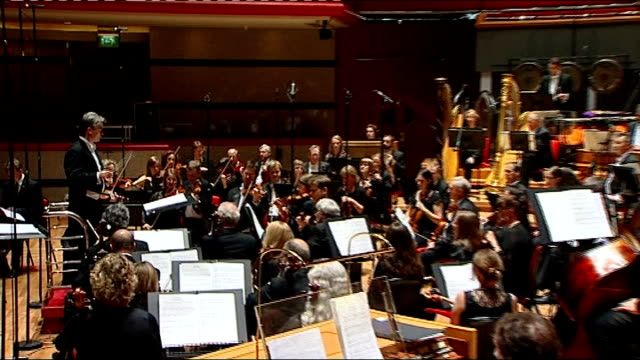 olympic festival of arts begins city of birmingham symphony orchestra rehearsing piece 'weltethos' by jonathan harvey - london symphony orchestra stock videos & royalty-free footage