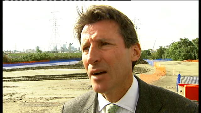 london 2012 olympic games: olympic velodrome building plans; lord coe interview sot coe, hoy, johnson and others posing for photocall with bicycles... - hoy stock videos & royalty-free footage
