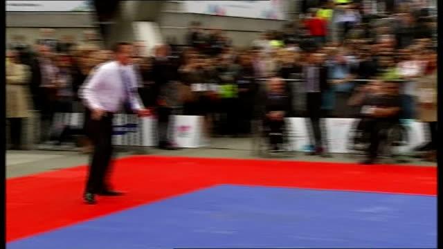 paralympics international paralympic day 892011 england london trafalgar square ext cameron and boris johnson preparing for tennis match johnson... - sleeve stock videos & royalty-free footage