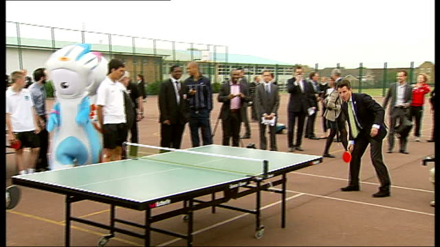 payment for tickets underway london int matthew bath interview sot north finchley ext boris johnson v lord coe table tennis photo opportunity young... - finchley stock videos and b-roll footage