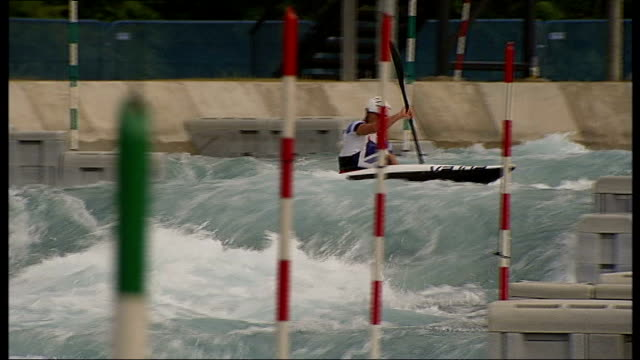 london 2012 olympic games: richard hounslow: effects of winning an olympic medal; england: london: lea valley white water centre: ext various of... - zweiter platz stock-videos und b-roll-filmmaterial