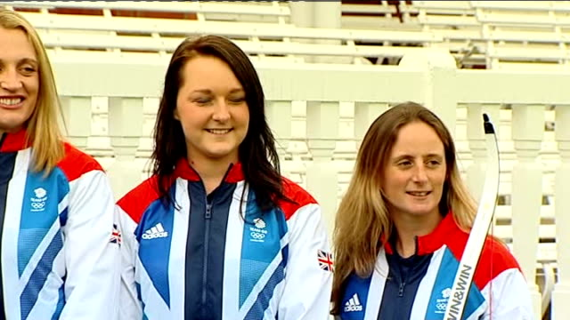 team gb archery photocall england london lords cricket ground ext general views of team gb archery photocall at lords cricket ground - lords cricket ground stock videos and b-roll footage