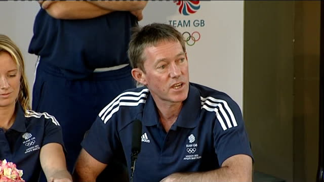 team gb sailing team press conference stephen park press conference sot on what inspired him to start sailing andy hunt press conference sot on what... - sailing team stock videos & royalty-free footage