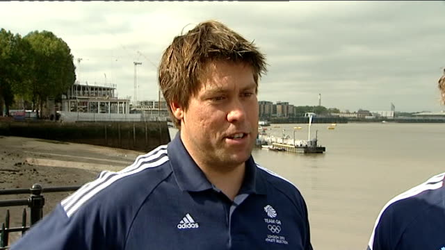 team gb sailing team unveiled andrew simpson interview sot how got into sailing - sailing team stock videos & royalty-free footage