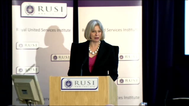 london 2012 olympic games: theresa may speech at rusi; england: london: int professor michael clarke introductory speech sot theresa may mp speech... - all around competition stock videos & royalty-free footage