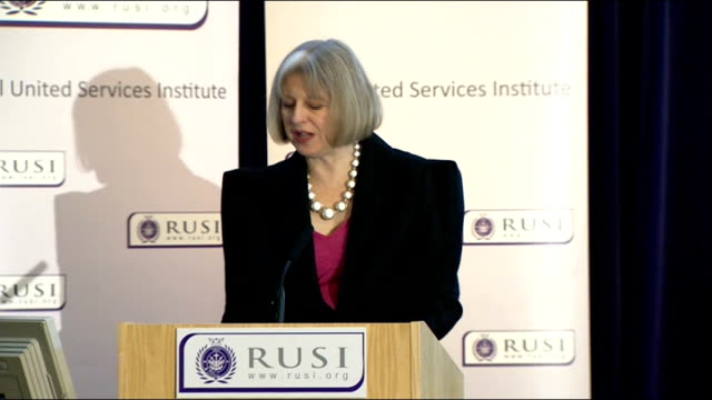 theresa may speech at rusi may speech sot the police are also working against cyber criminals with a dedicated police operation against those who... - office politics stock videos & royalty-free footage