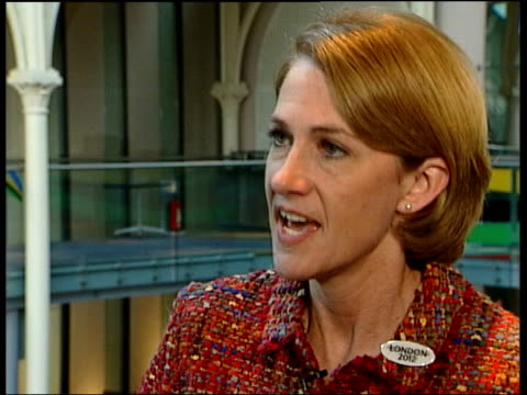 london 2012 olympics bid launched; itn barbara cassani interviewed sot - money spent on games is paid back thru economic development blair along with... - bid stock videos & royalty-free footage