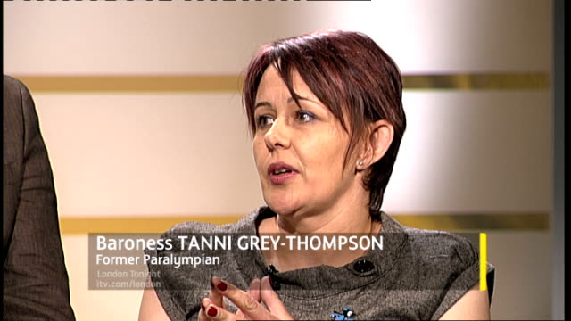 london 2012 paralympic games interview tanni greythompson and chris holmes england london gir int baroness tanni greythompson interview sot talks of... - baroness stock videos & royalty-free footage