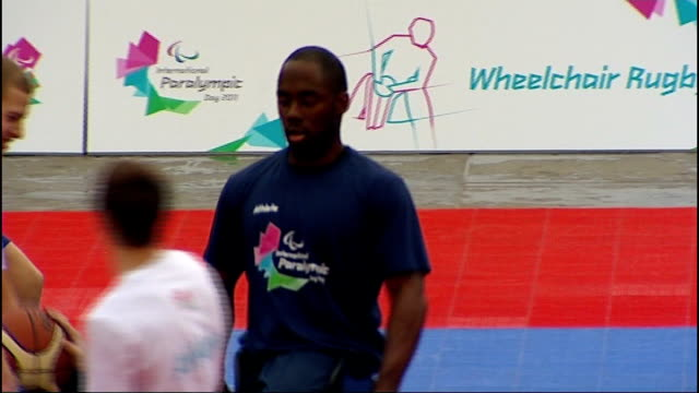 Over one million children pledge to try out Paralympic sport ENGLAND London Various views of physically disabled athletes including basketball...