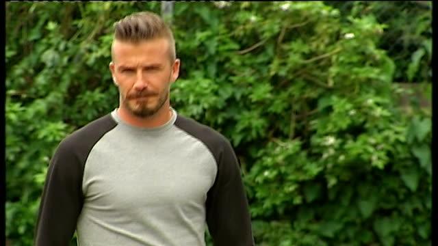Paralympic ambassador David Beckham visits London school ENGLAND Middlesex Harrow EXT David Beckham along