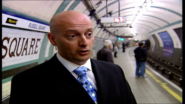 london 7th july 2005 attacks: first anniversary; steven charlick interview sot - was like nothing i'd ever seen before / people lying, sitting on... - medical dressing stock videos & royalty-free footage