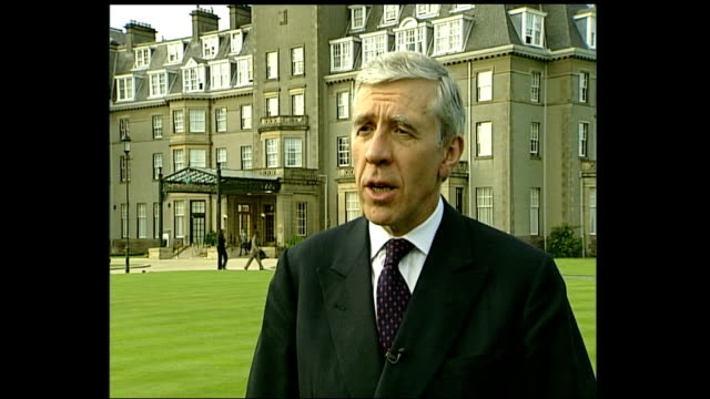 london 7th july 2005 attacks: jack straw interview; scotland: gleneagles: ext jack straw mp interview sot -a number of casualties reaching around 50,... - jack straw stock videos & royalty-free footage