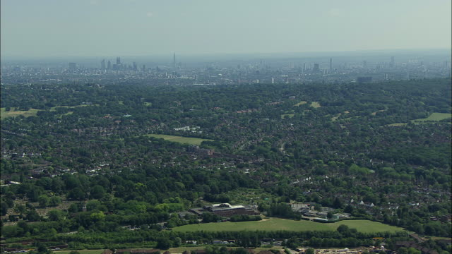 london aerial: highgate to childs hill - highgate stock videos & royalty-free footage