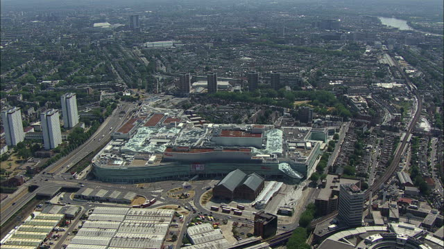 London aerial: Orbit of Westfield shopping centre, White City, London
