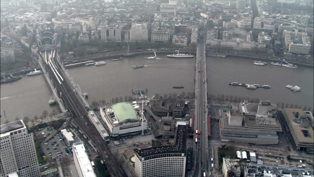 london - aerial view - england, greater london, wandsworth, united kingdom - queen elizabeth hall stock videos and b-roll footage