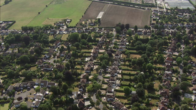 london aerial: woodcote green, surrey - garden center stock videos and b-roll footage