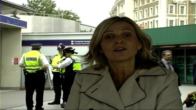 security response england london king's cross ext police officers with sniffer dog searching vehicle at king's cross car park reporter to camera... - searching stock videos and b-roll footage