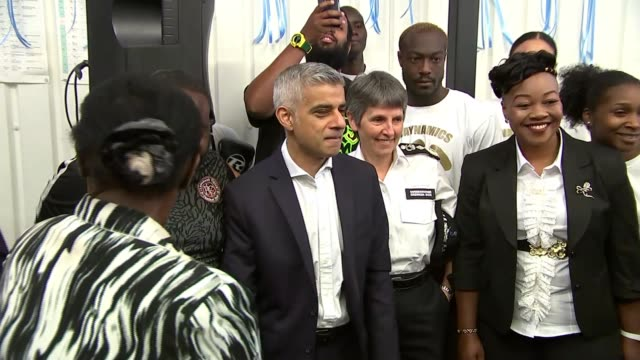 london assembly police and crime committee launch inquiry into surge in violence t27061731 / tx london brixton ext sadiq khan and cressida dick... - sadiq khan stock videos and b-roll footage