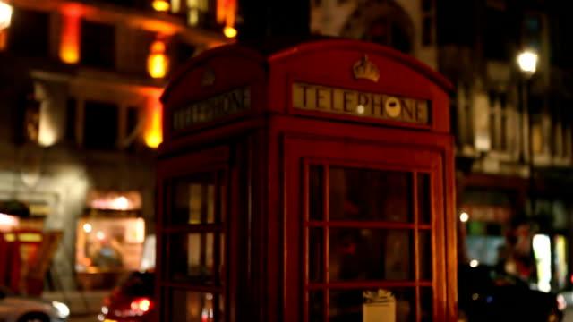 london at night - telephone box stock videos & royalty-free footage