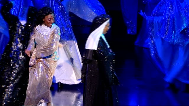 london auditions for 'sister act' t10081029 london palladium int whoopi goldberg performing dress rehearsal on stage of west end musical version of... - whoopi goldberg stock videos & royalty-free footage