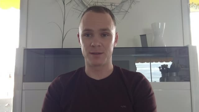 london 'axes' tour de france grand depart plans chris froome reaction location chris froome interview via internet sot - リチャード・パロット点の映像素材/bロール
