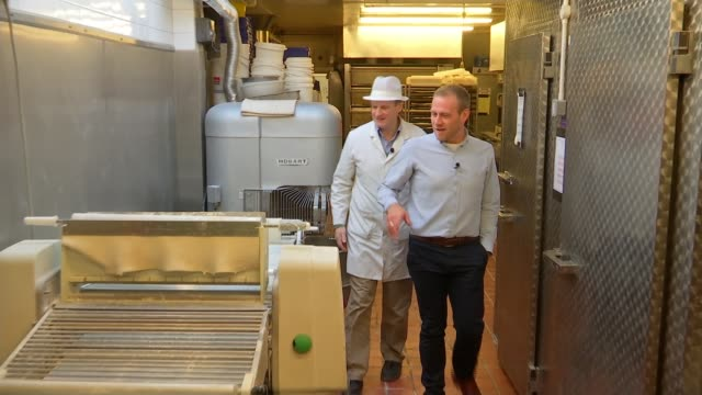 London bakers preparing way for Brexit by going local Barnet Victoria Bakery INT Reporter greeting James Freeman and chatting SOT Freeman chatting to...
