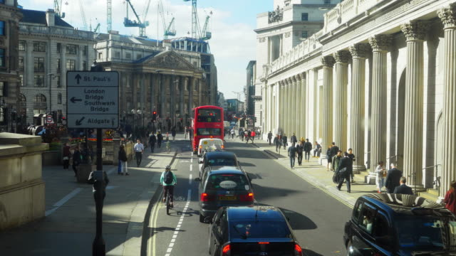 POV London Bank Of England And Mansion House (UHD)