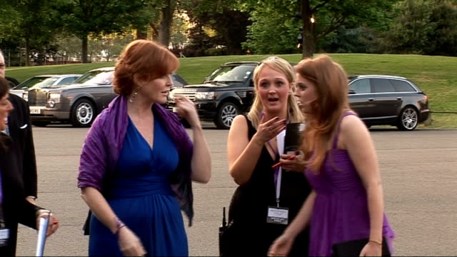 London Battersea EXT ***FLASH Sarah Ferguson and Princess Beatrice arriving at Caudwell Children 'Butterfly Ball' event