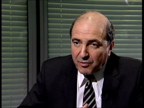 london berezovsky interviewed sot he is a real and open opponent of putin think its a reaction to this pressure - 実業家 ボリス・ベレゾフスキー点の映像素材/bロール