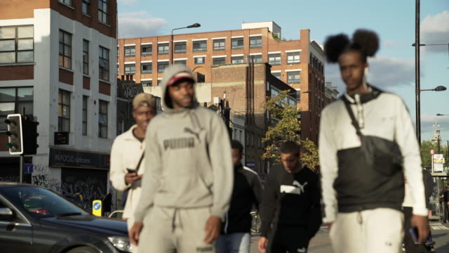 london bethnal green road scene - youth culture stock videos & royalty-free footage