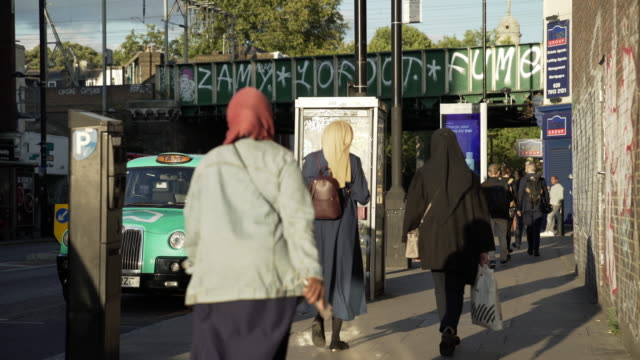 london bethnal green road scene - islam stock videos & royalty-free footage