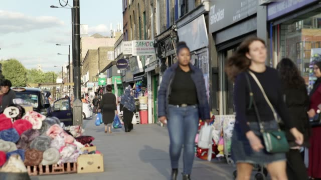 london bethnal green road scene - uk stock videos & royalty-free footage