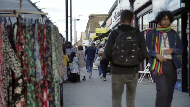 london bethnal green road scene - city life stock videos & royalty-free footage