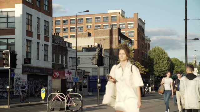 london bethnal green road scene - road signal stock videos & royalty-free footage