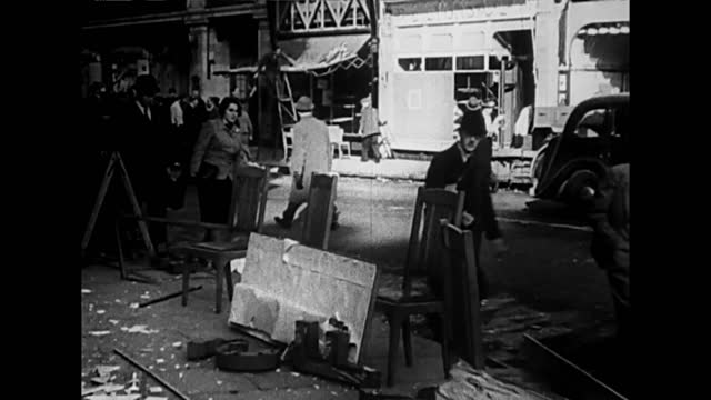 london between bombings: city life / workers at factory - damaged stock videos & royalty-free footage
