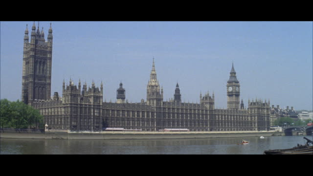 1962 london - big ben and the houses of parliament - city of westminster london stock videos & royalty-free footage