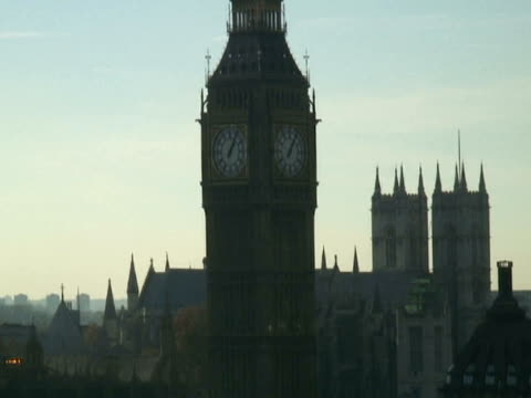 London: Big Ben von-Etage, zieh den Fluss Themse