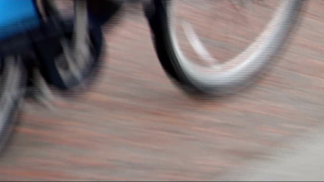 london bike hire scheme: boris johnson riding hire bike; england: london: south bank: ext travelling shots / point of view shots from motorcycle... - motorbike stock videos & royalty-free footage