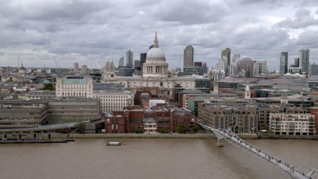 london blackfriars and st. paul's cathedral - cathedral stock videos & royalty-free footage