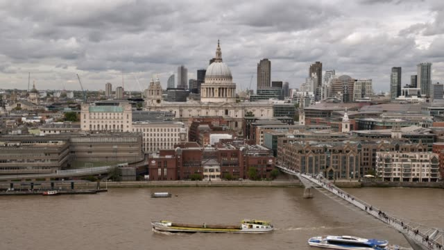 london blackfriars and thames river from the south - cathedral stock videos & royalty-free footage