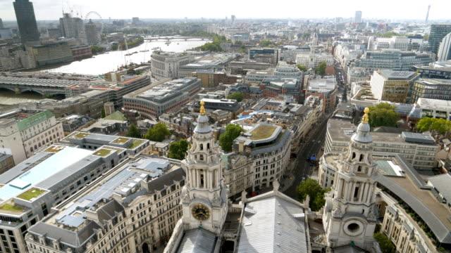 london blackfriars and thames river - fleet street stock videos & royalty-free footage