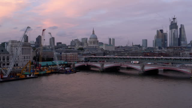 london blackfriars and the city skyscrapers - skyline stock videos & royalty-free footage