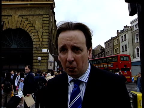channel 4 news special 1930 2000 kings cross power interview sot describes aftermath of bomb blast on train police officer talking to men cms lyn... - face down stock videos & royalty-free footage