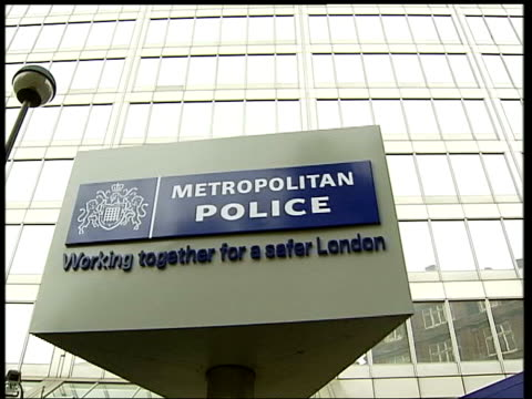 haroon rashid aswat arrest in zambia links to bombers date england london revolving metropolitan police sign at new scotland yard new scotland yard... - stockwell stock videos and b-roll footage