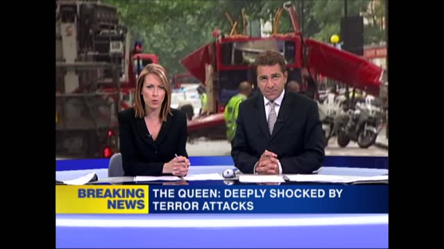 news openender 13.30 - 14.30; 13:33 england: london: gir: int felicity barr and steve scott live studio statement from queen read out king's cross:... - exploding stock videos & royalty-free footage