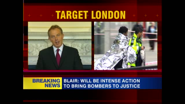 news openender 16.30 - 17.30; 17.29 england: london: westminster: 10 downing street: int tony blair mp speech sot - this has been a most terrible and... - itv news at one stock videos & royalty-free footage