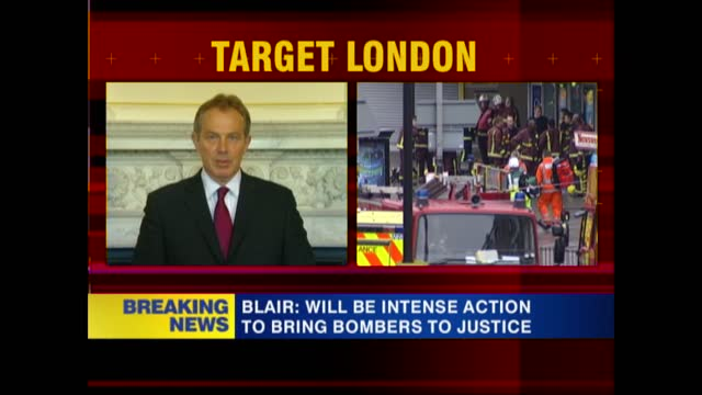news openender 17.30 - 18.30; 17.30 england: london: westminster: 10 downing street: int tony blair mp speech sot - [this has been a most terrible... - prime minister点の映像素材/bロール