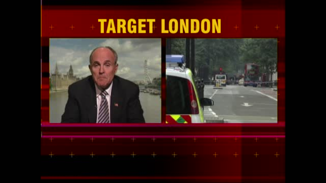 news openender clean feed: 17.30 - 19.00; england: london: int andrea catherwood / steve scott live studio rudolph giuliani live interview ex... - news event stock videos & royalty-free footage