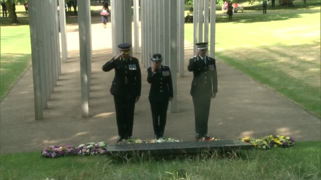 7/7 london bombings 12th anniversary england london hyde park 7/7 london bombings memorial ext sadiq khan lays wreath at 7/7 london bombings memorial... - memorial plaque stock videos and b-roll footage