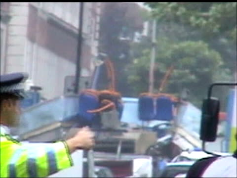 Bus driver returns to work TX GVS aftermath of terrorist bomb attack on the No 30 bus